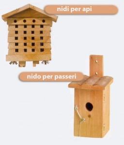 nido per api e passeri