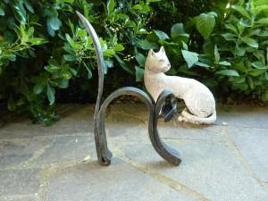 gatto in ferro battuto