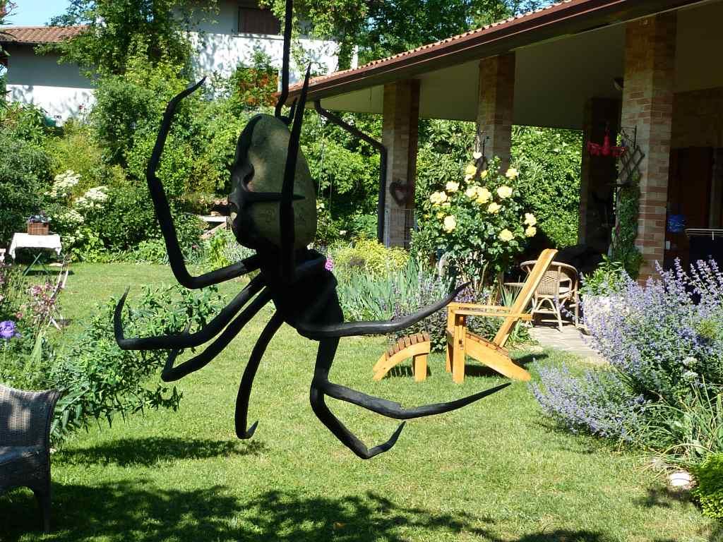 Animali in ferro battuto amici in giardino for Oggetti per abbellire il giardino