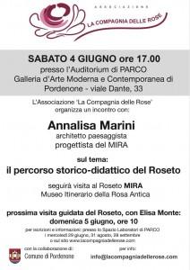 Volantino Incontro con l'Architetto Annalisa Marini