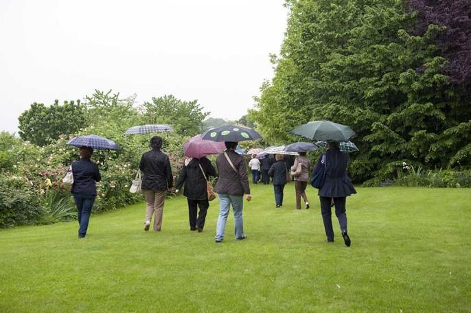 visitatori anche con la pioggia