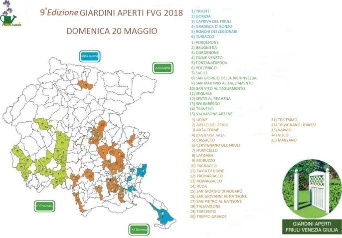 Giardini Aperti 2018 mappa